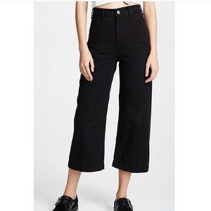 NWT! Free People Patti Pant Wide Leg Cropped Black